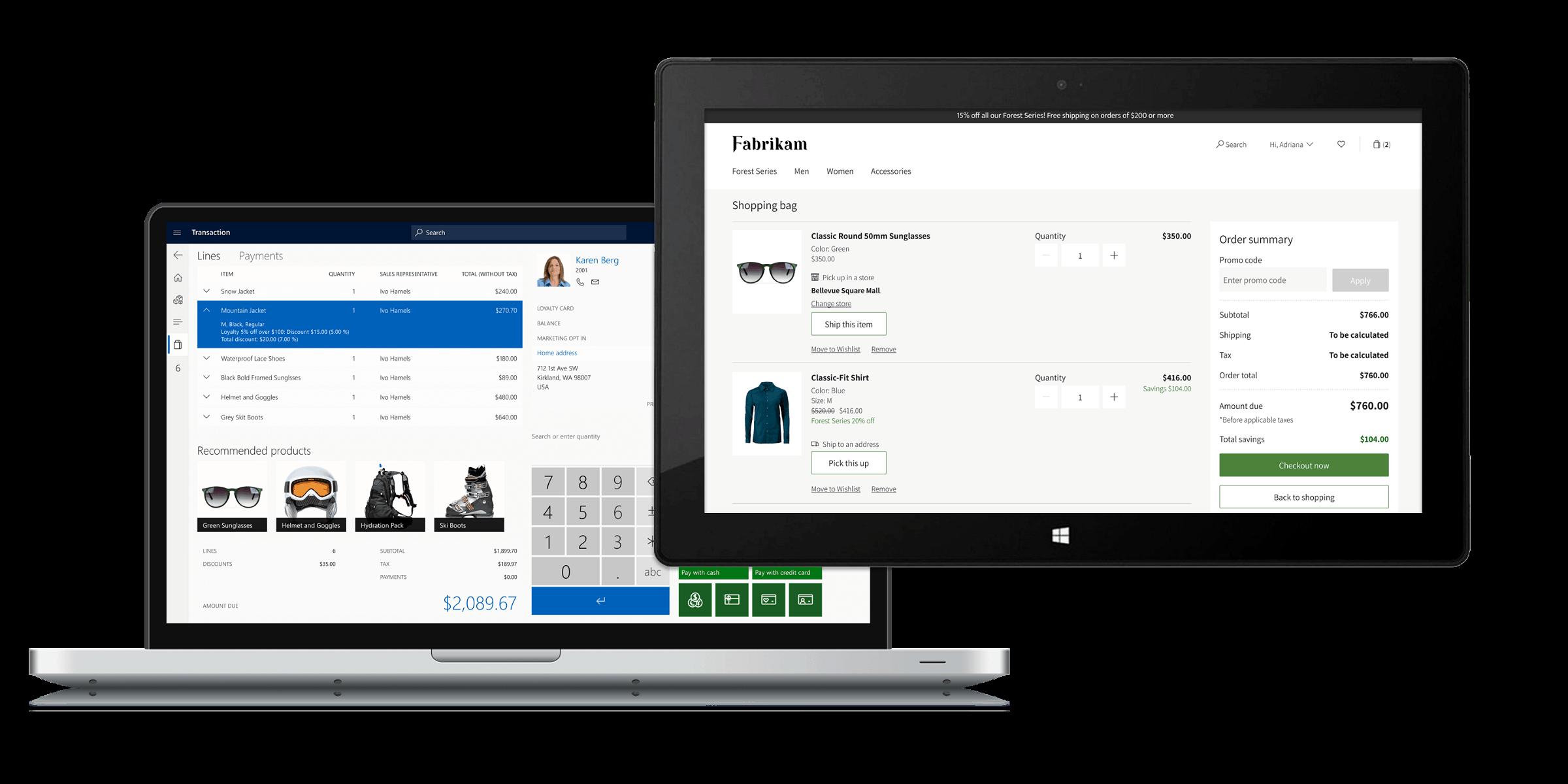 Microsoft Dynamics 365 Commerce Screenshots