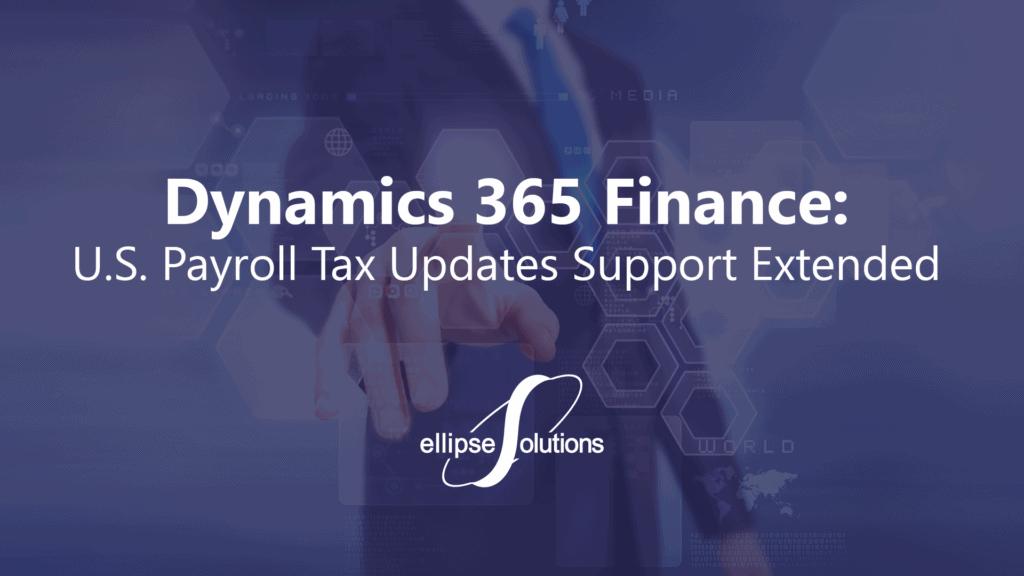 dynamics 365 payroll tax update