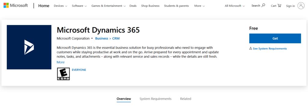 Dynamics 365 windows app